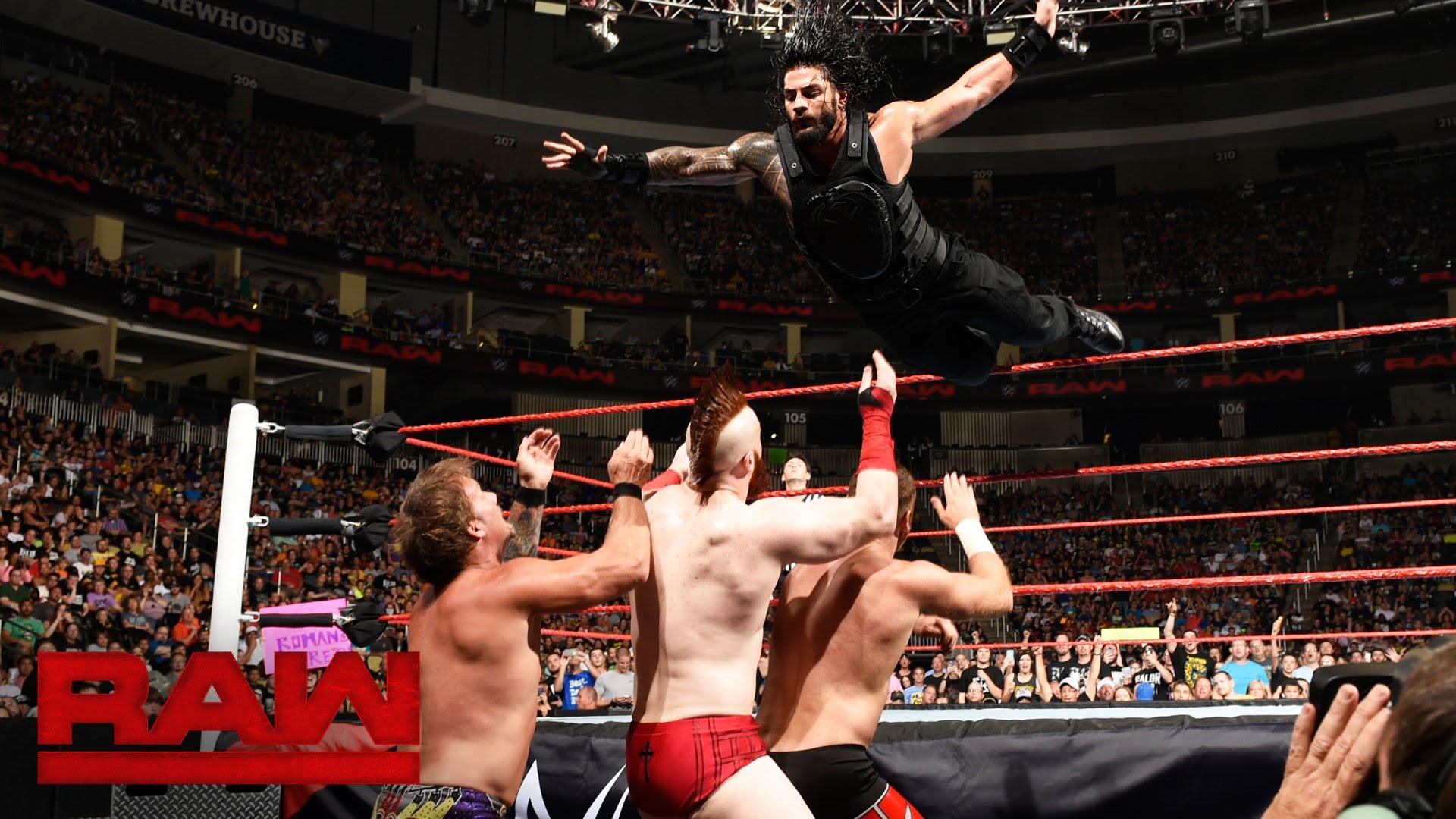 Watch Roman Reigns Vs Sami Zayn Vs Sheamus Vs Chris Jericho Raw