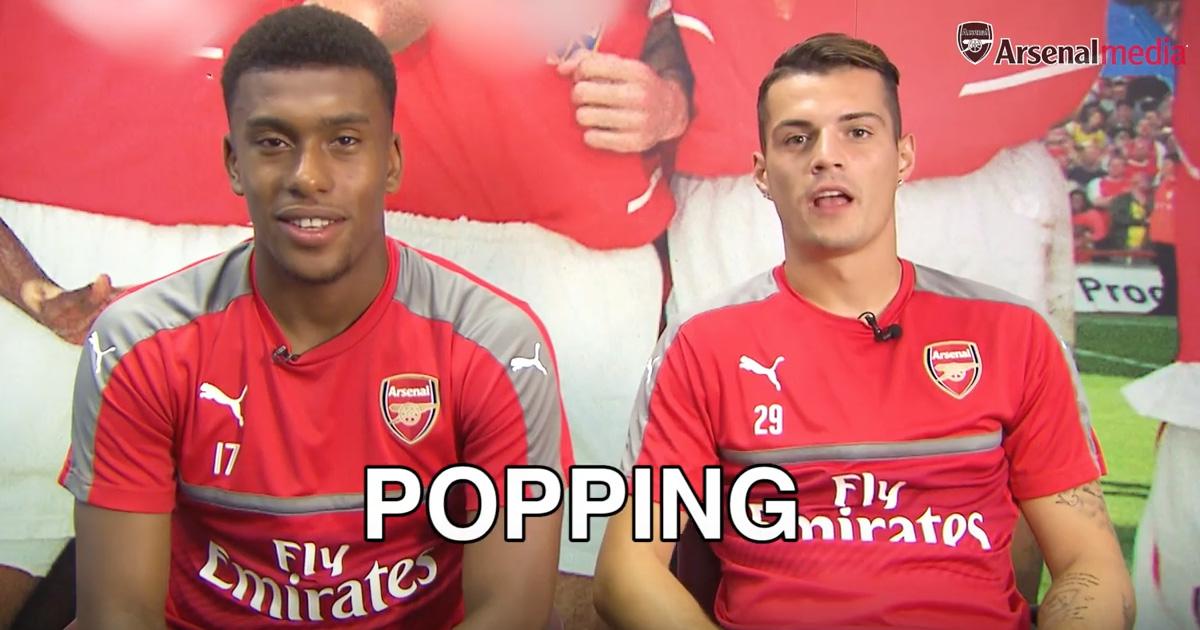 VIDEO: Arsenal's Iwobi, Xhaka And Holding Attempt To Speak London Street Slang