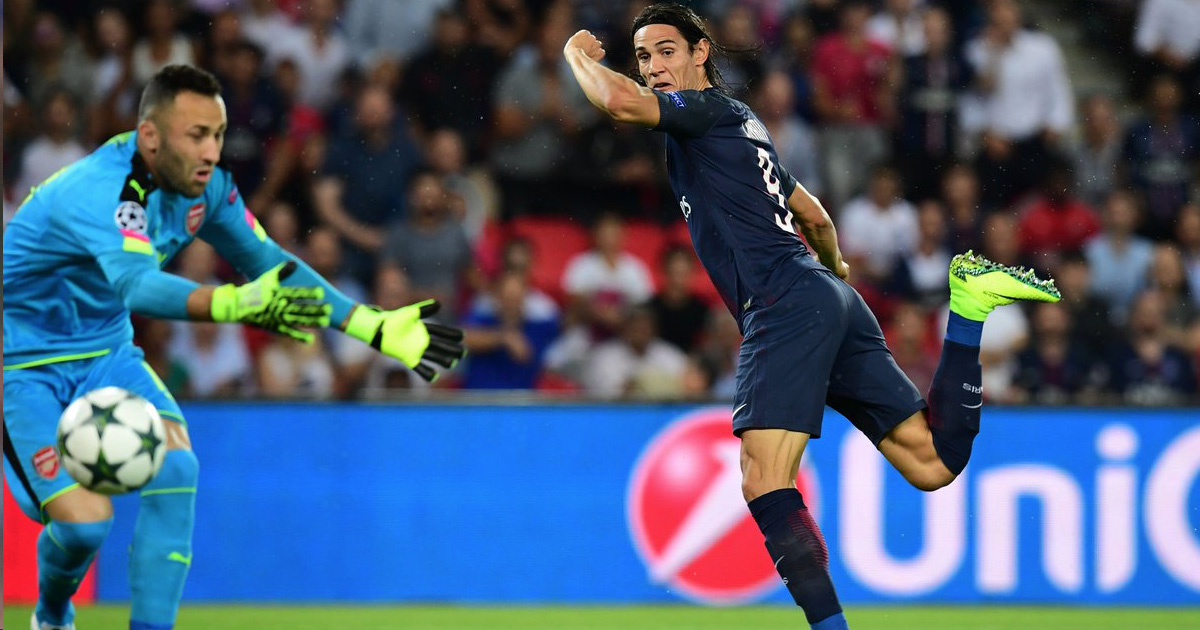 VIDEO: Cavani Puts Arsenal 1-0 Down After 44 Seconds