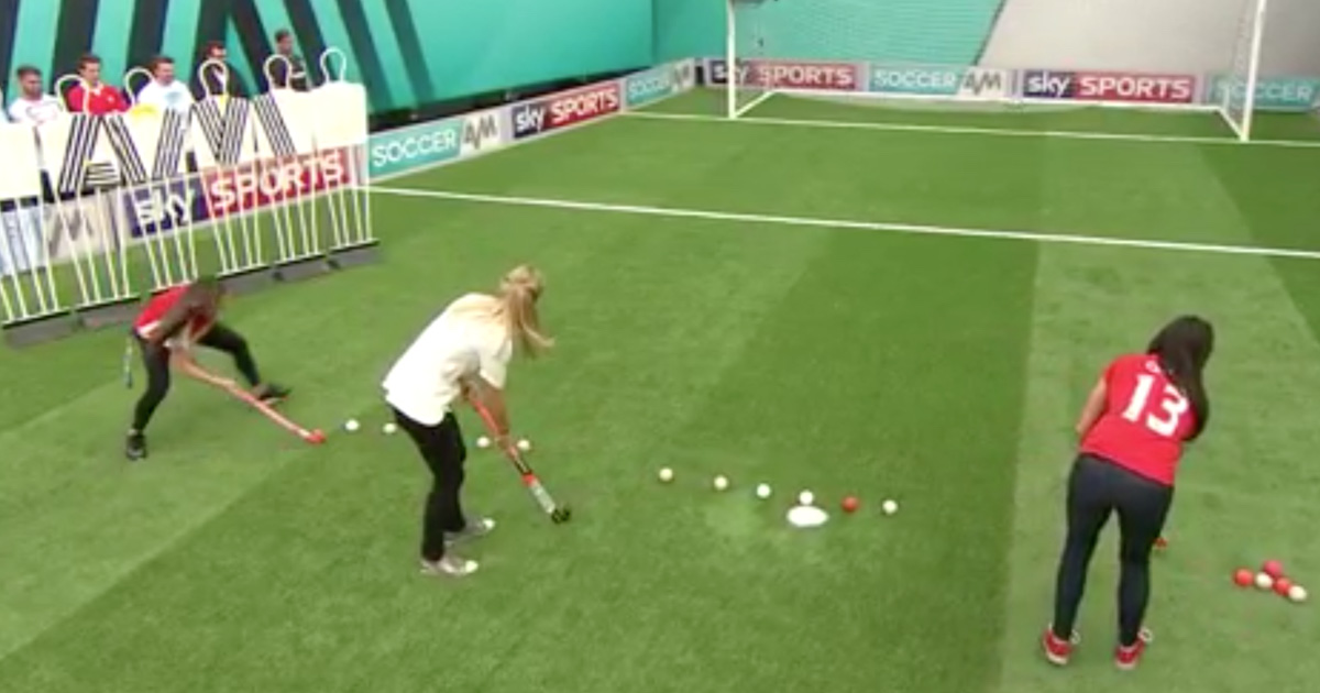 VIDEO: Team GB's Hockey Gold Medalists Absolutely Smash The Top Bin Challenge