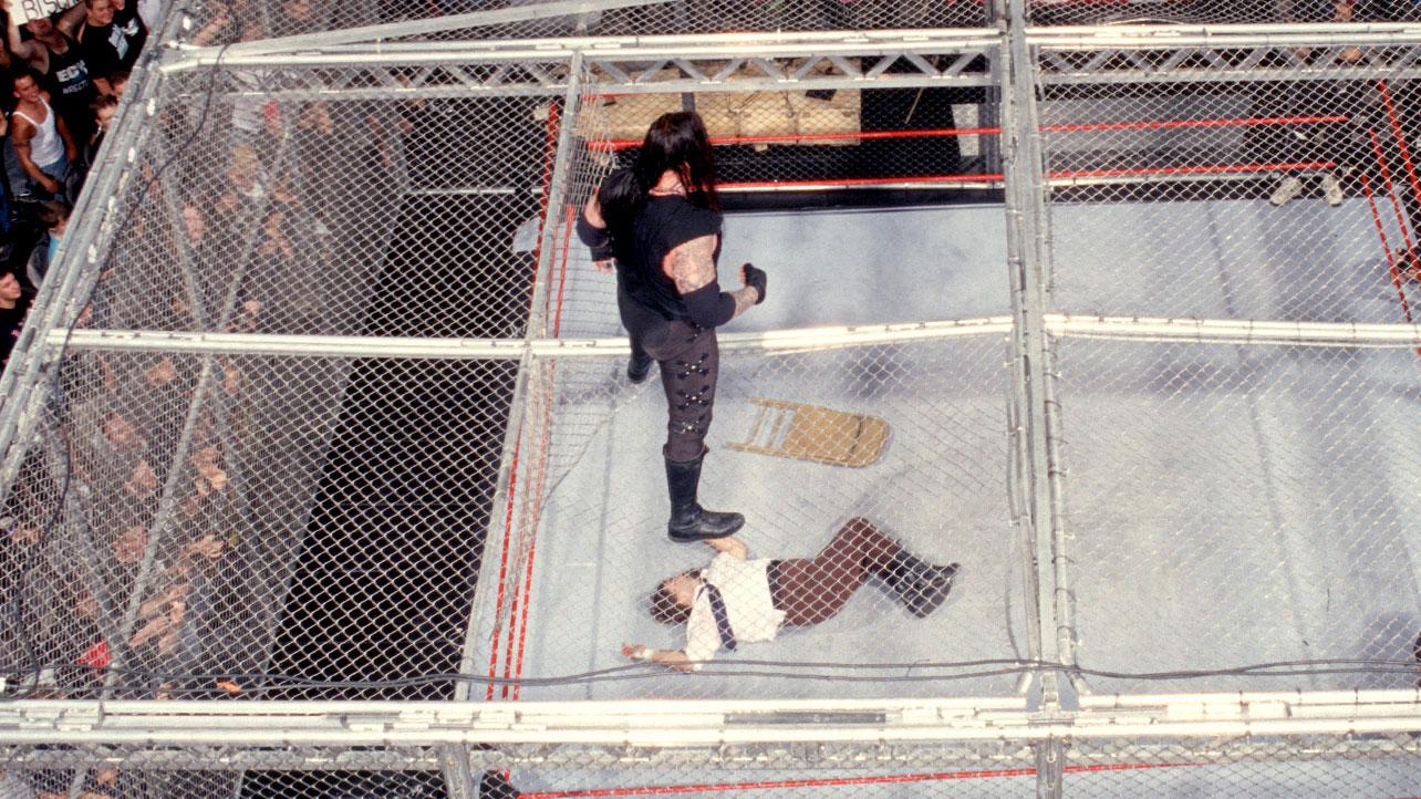 WATCH: Undertaker v Mankind's Famous Hell In A Cell Match In Full