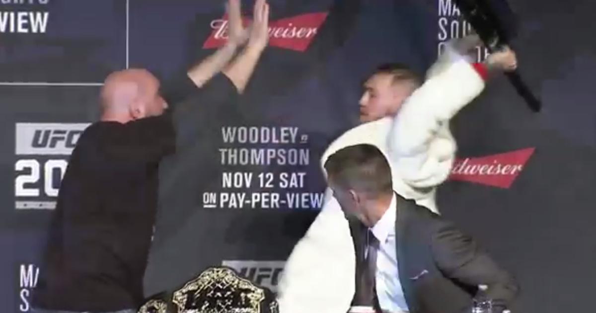 WATCH: Conor McGregor Snatches Eddie Alvarez Belt And All Hell Breaks Loose