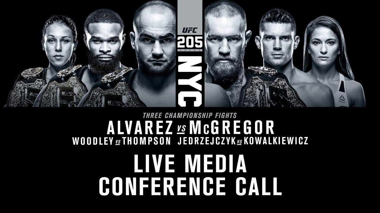 LISTEN: Conor McGregor & Eddie Alvarez UFC 205 Conference Call (FULL)