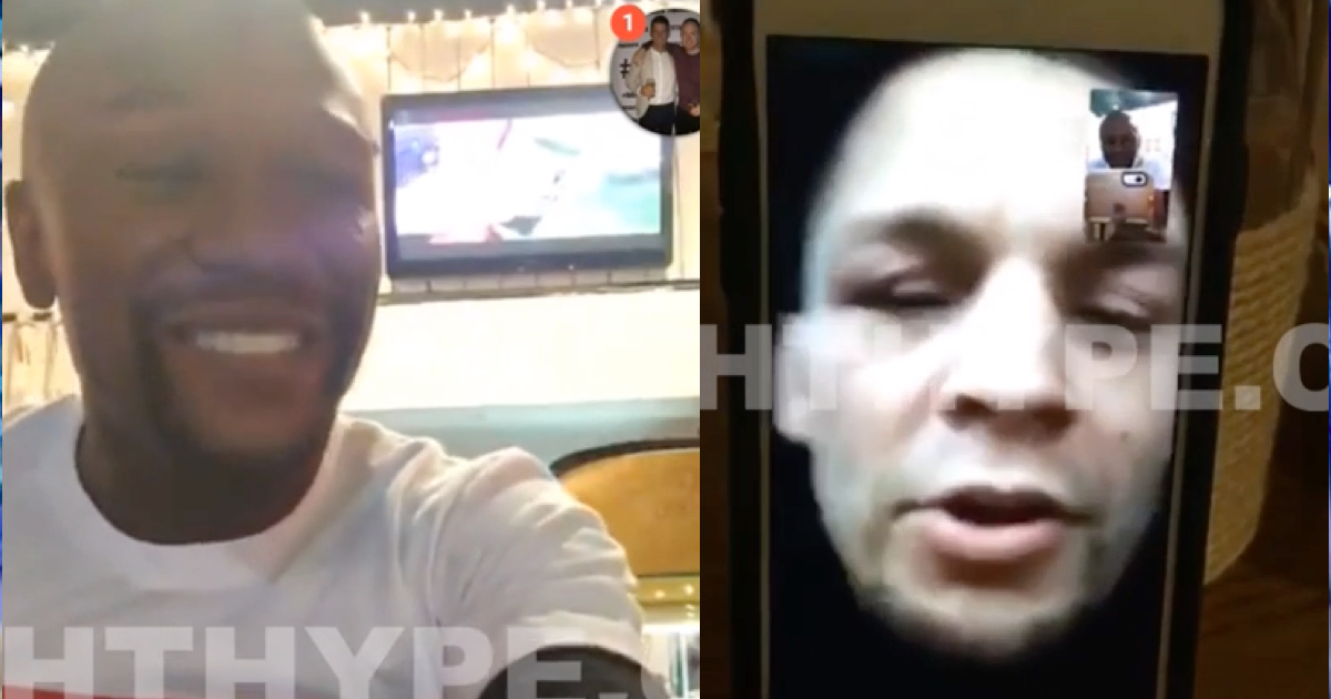 WATCH: Floyd Mayweather FaceTimes Nate Diaz About Conor McGregor