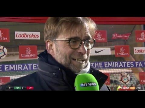 Jurgen Klopp – Post Match Interview – Plymouth 0 Liverpool 1