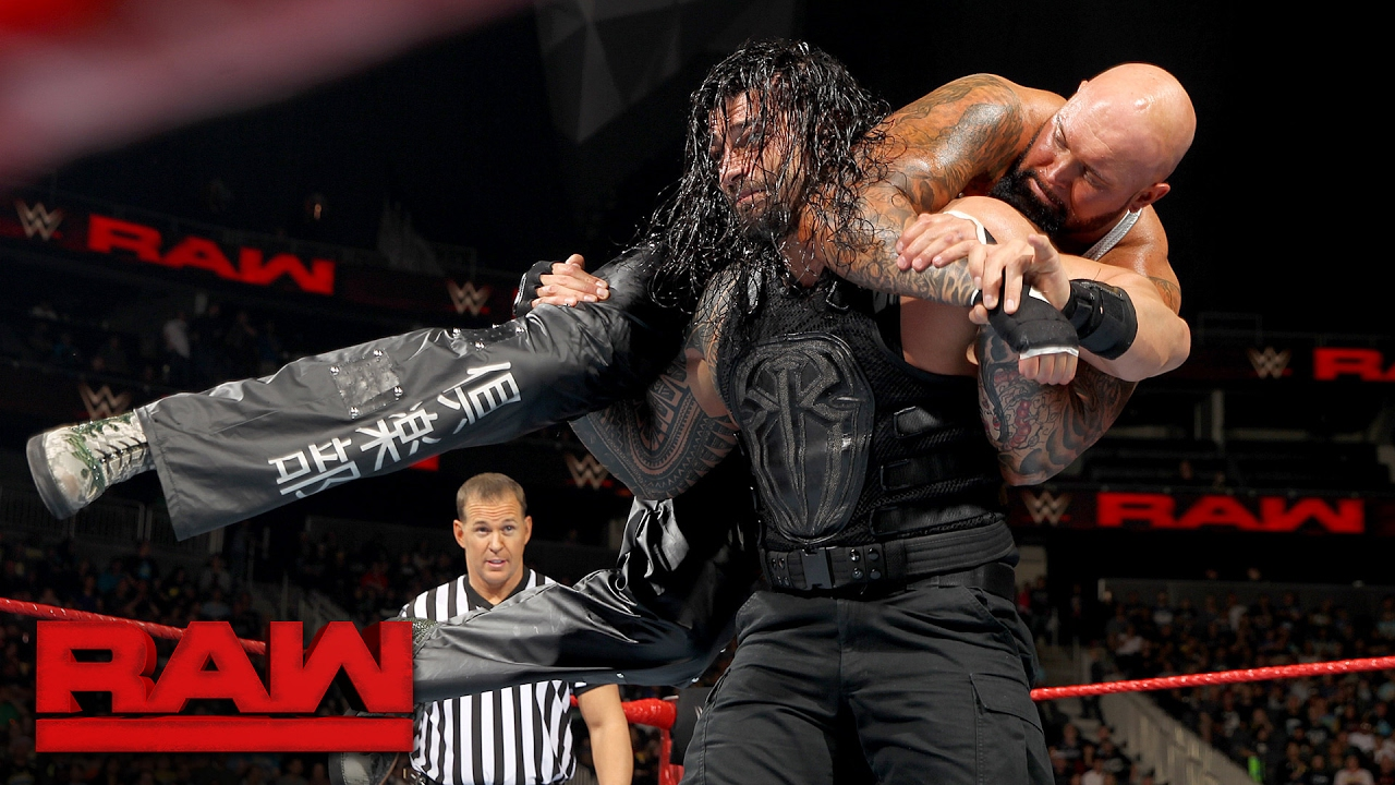 Roman Reigns vs. Luke Gallows & Karl Anderson – 2-on-1 Handicap Match: Raw