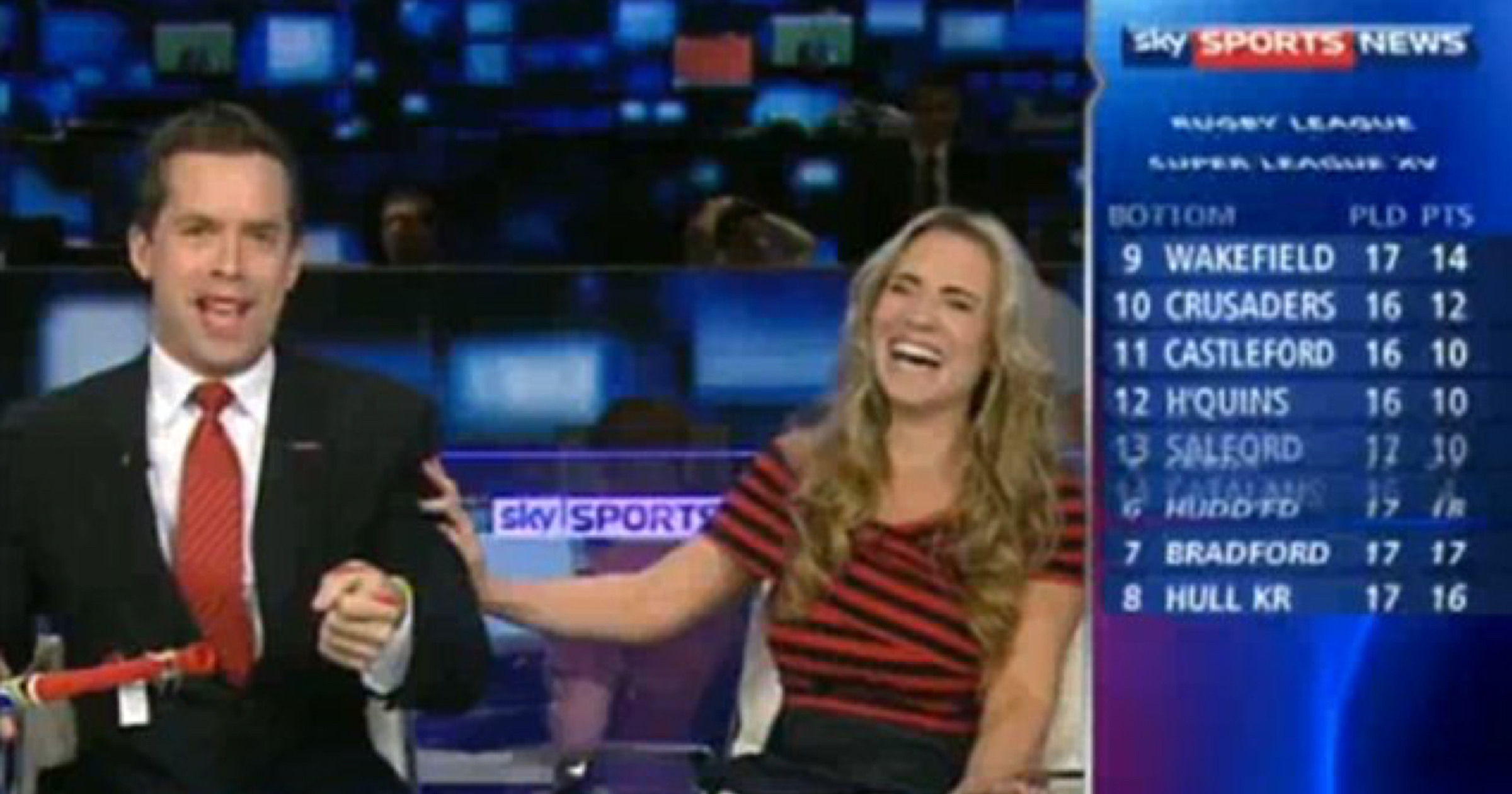 Throwback To Georgie Thompson's Prank On David Jones Live On Sky Sports News