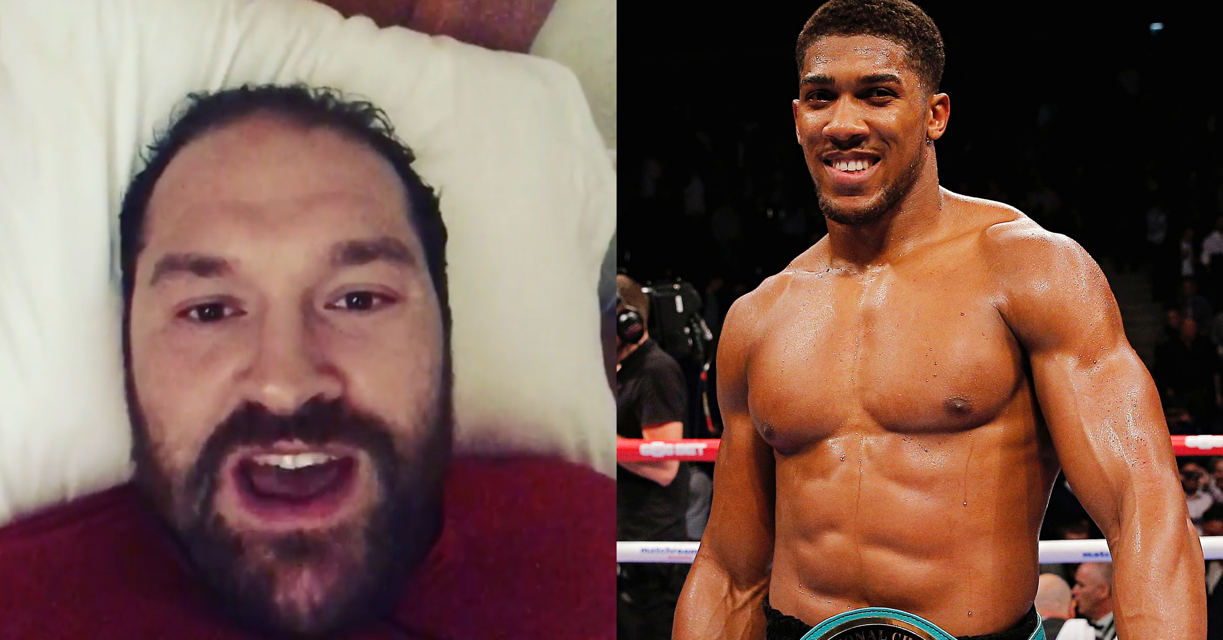 WATCH: Tyson Fury Wishes Anthony Joshua Luck & Then Calls Him Out