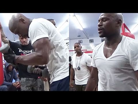 BEAST: Floyd Mayweather Bulking up to 'Destroy' Conor McGregor at 154; Slams Weights Around