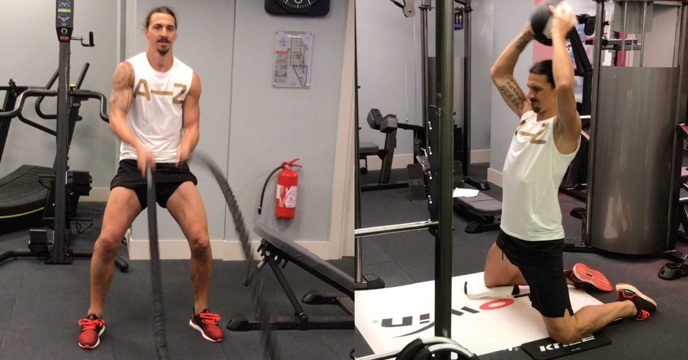 WATCH: Zlatan Ibrahimovic Looks Stronger Than Ever In His Latest Workout Posts