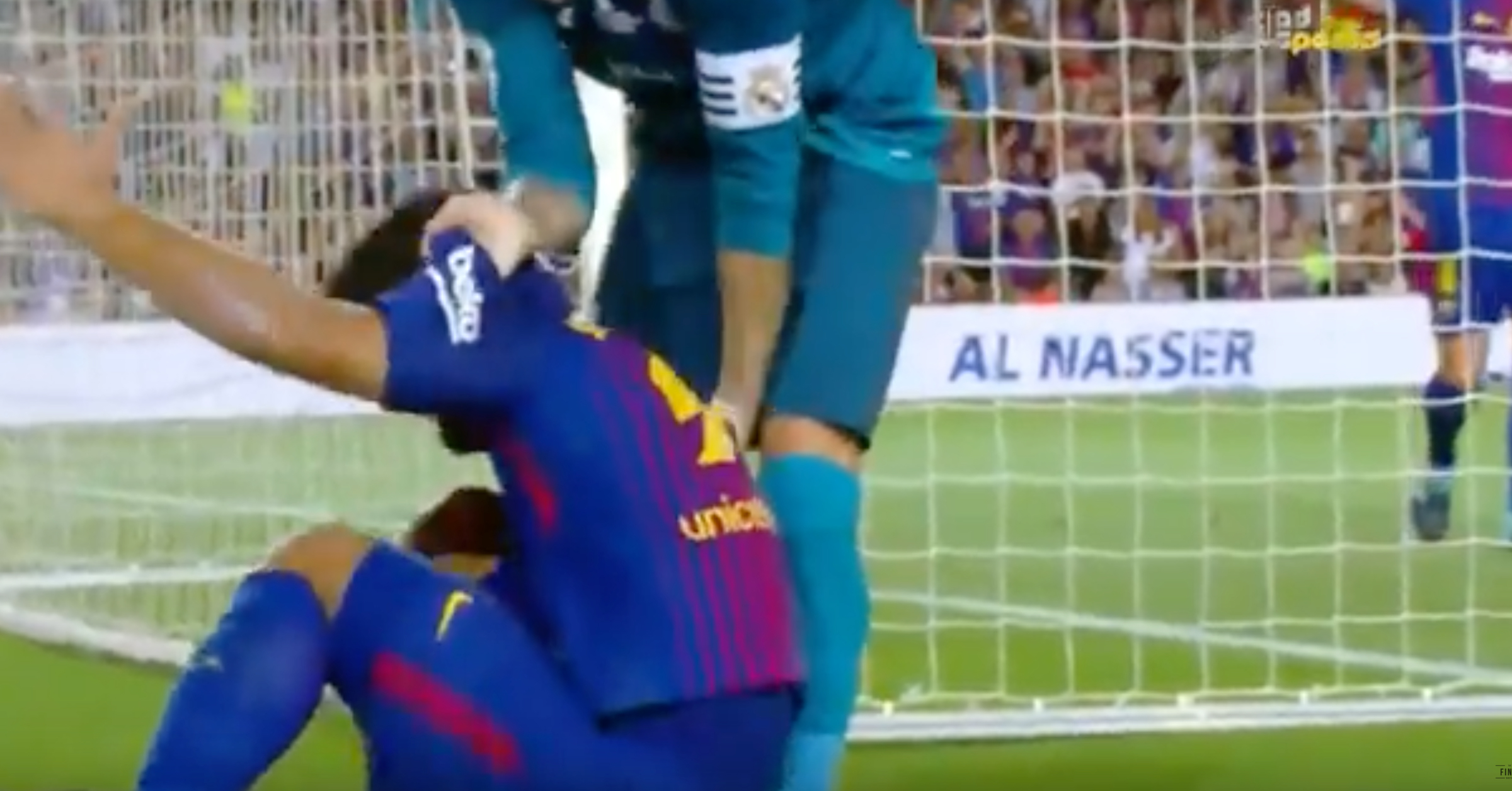 "WATCH: Footage Of Sergio Ramos ""Helping"" Luis Suarez Up After His Dive Goes Viral"
