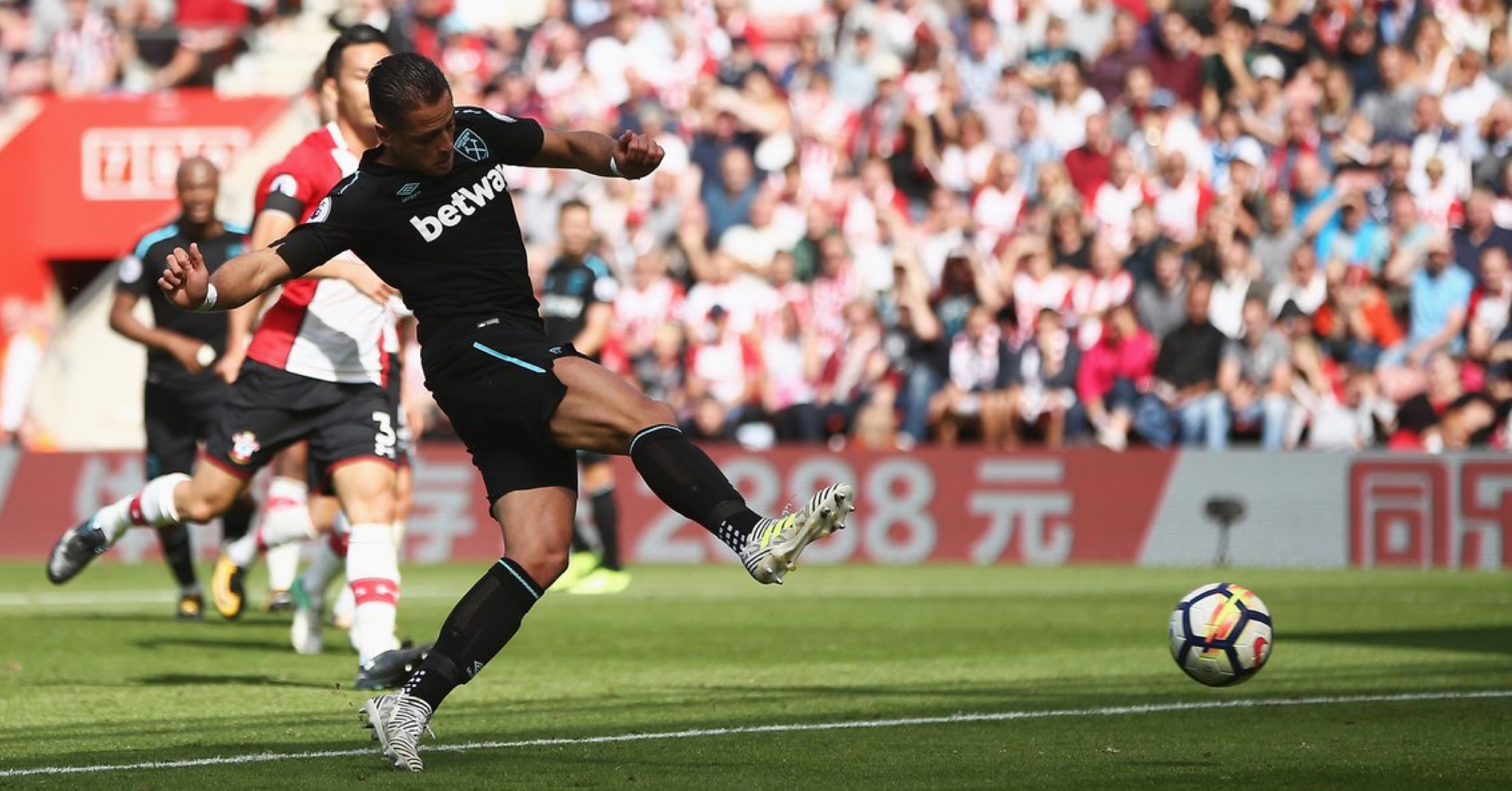 WATCH: Chicharito Scores His First Goal For West Ham In The Premier League