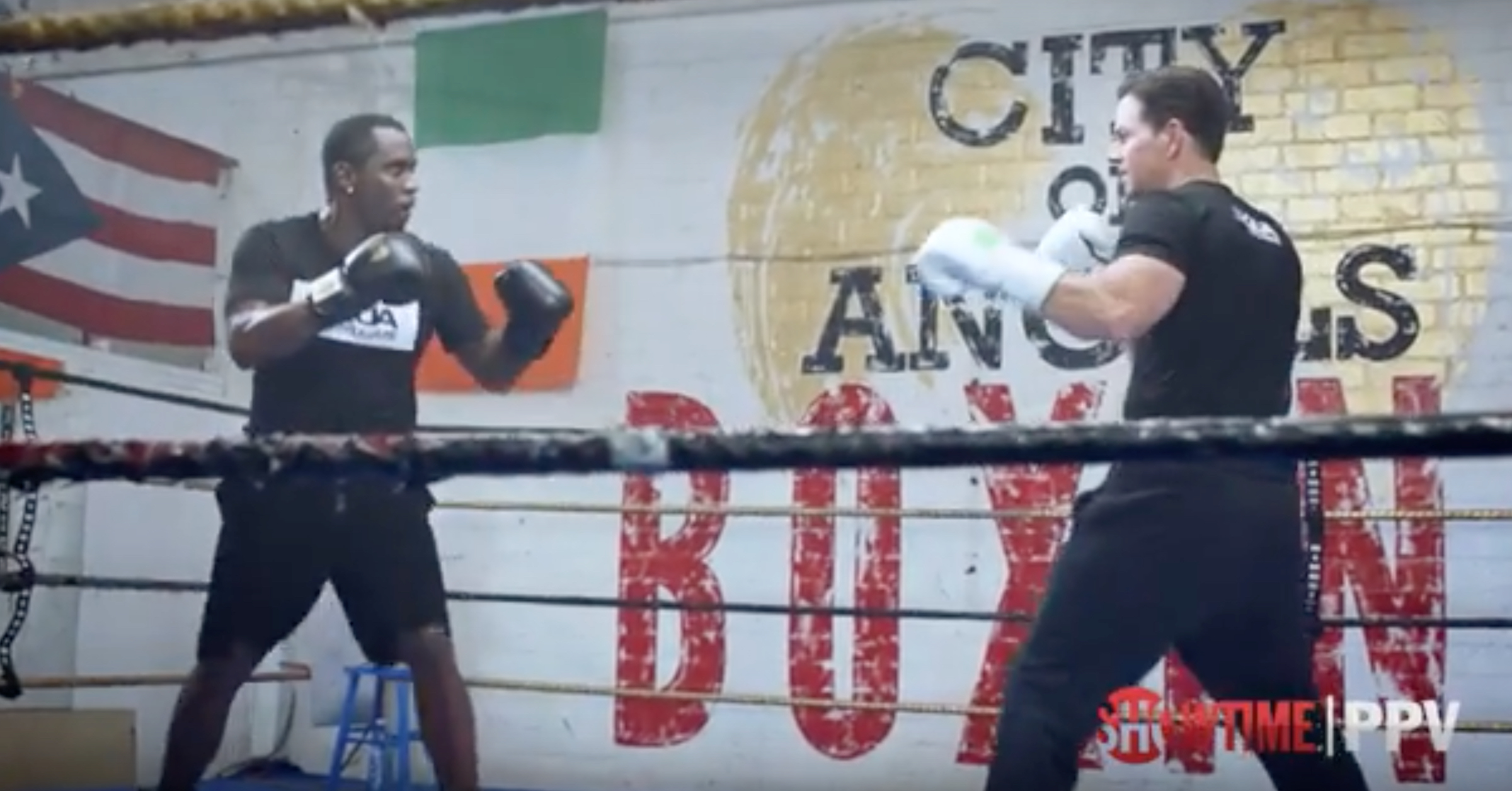 WATCH: Diddy & Mark Wahlberg Make $200,000 Bet On Mayweather/McGregor Fight