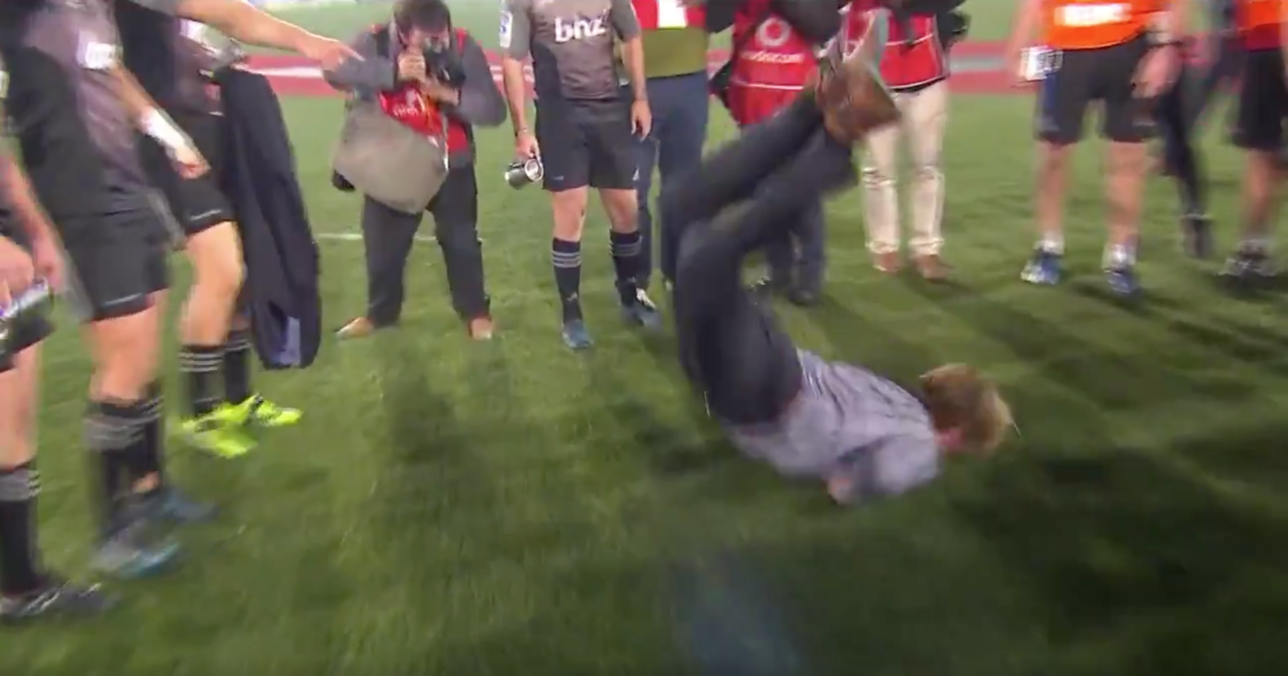WATCH: Crusader's Coach Break Dances To Celebrate Winning The Super Rugby Final