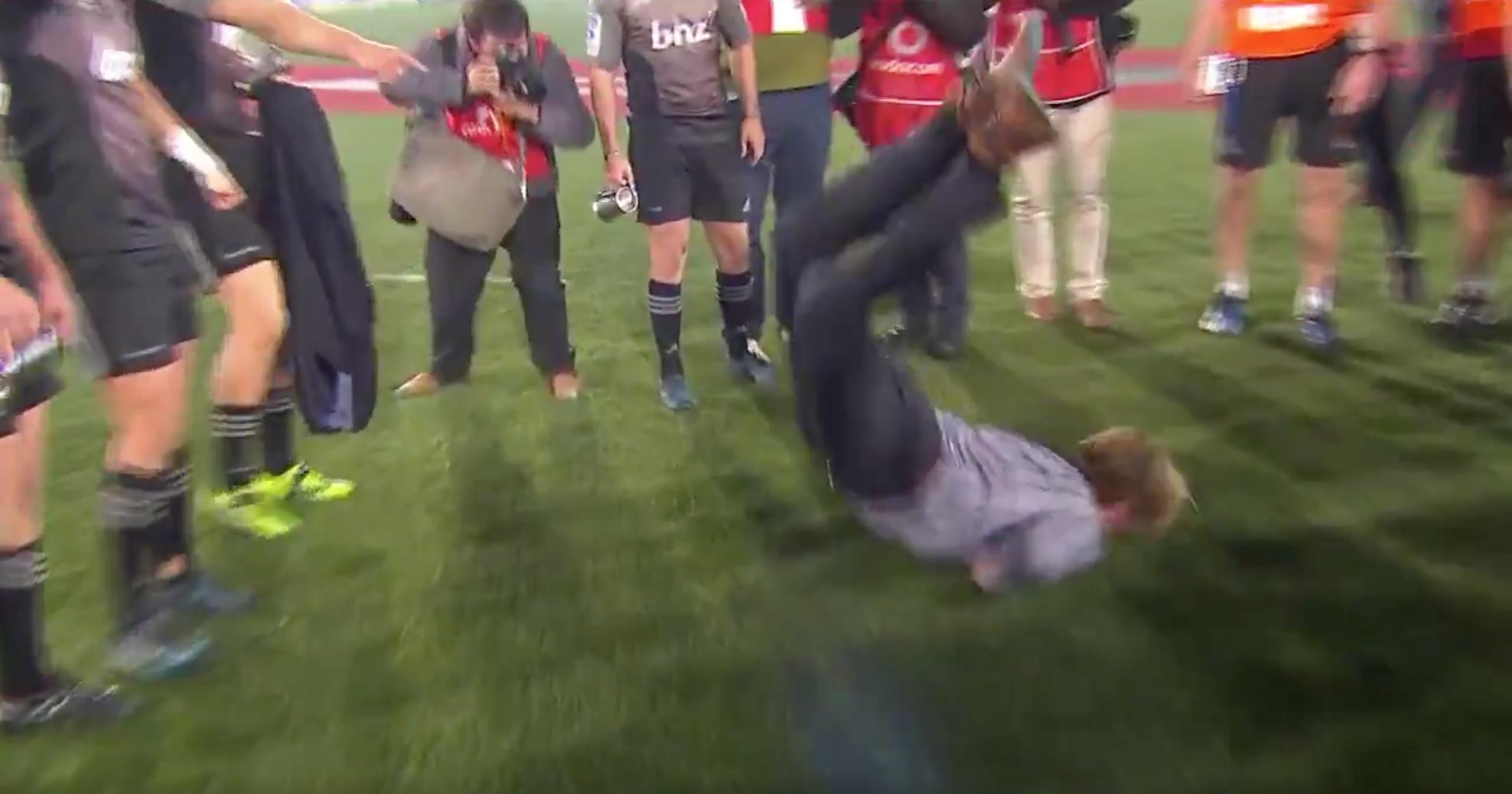 WATCH: Crusader's Coach Break Dances To Celebrate Winning The Super Rugby Final
