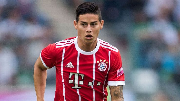 James Rodriguez & Thiago Both Out For Bayern Due To Injury