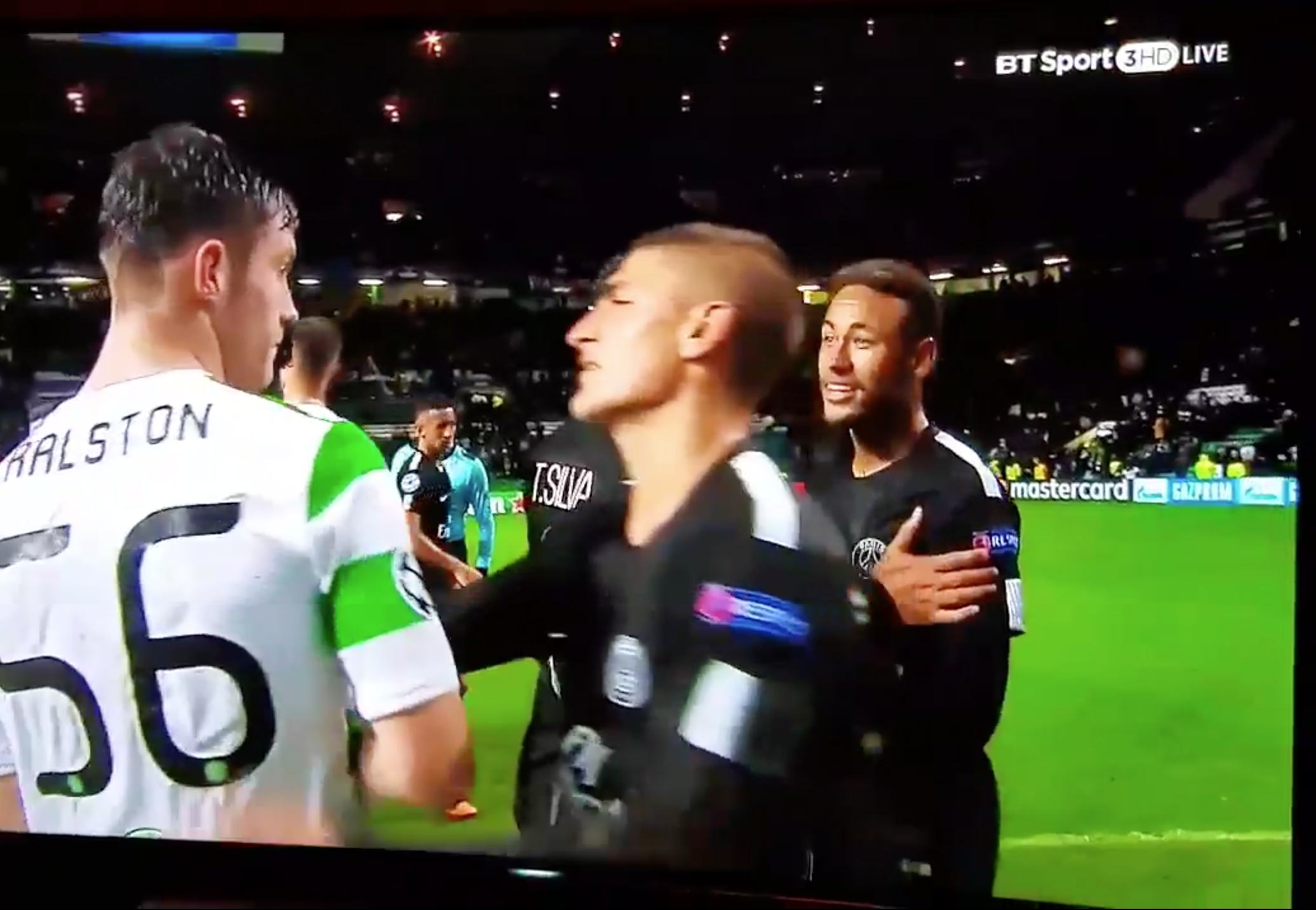 WATCH: Things Kicking Off Between Neymar And Ralston After The Game