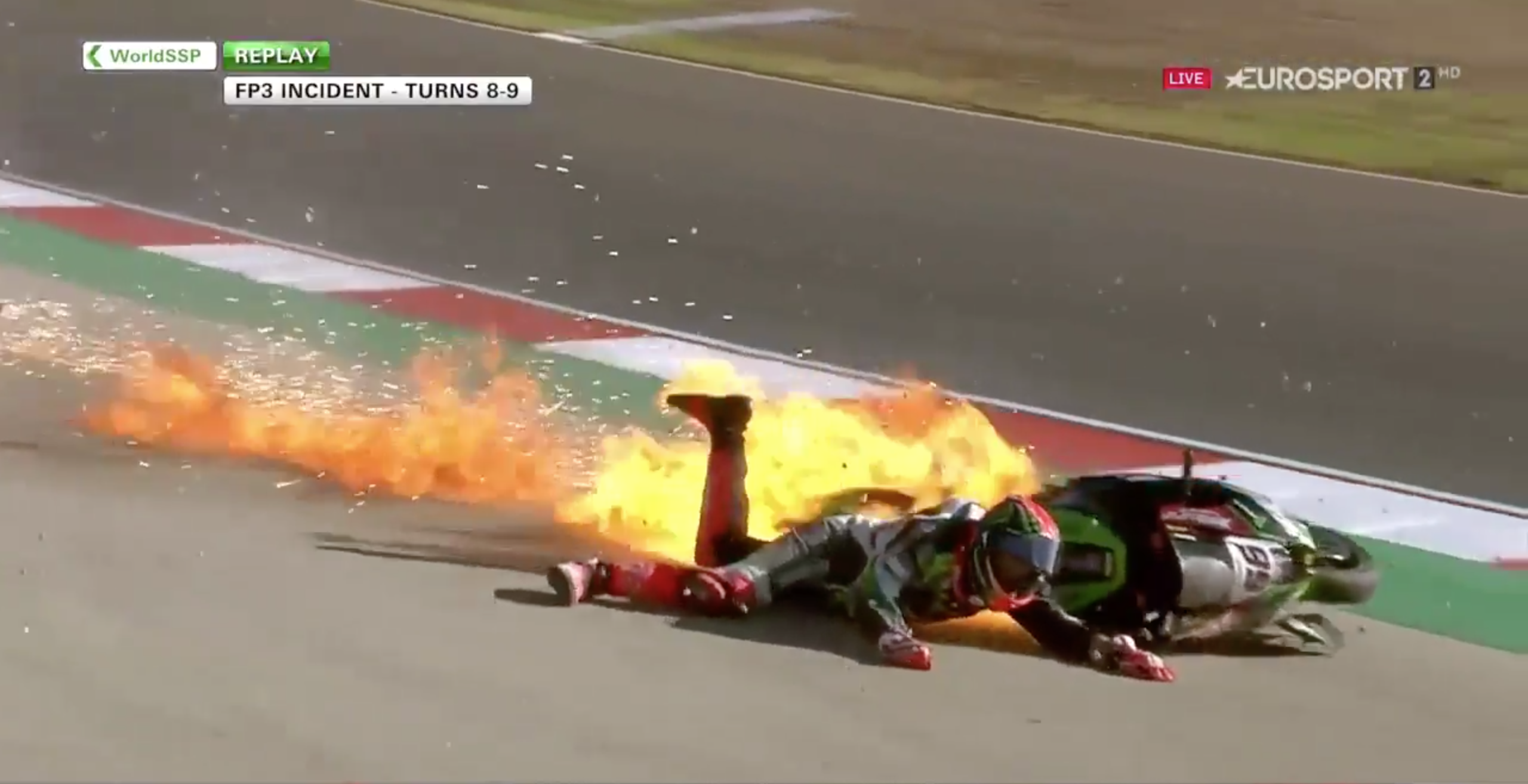 WATCH: Superbike Rider Tom Sykes Lucky To Be Alive After Insane Fireball Crash!