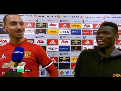 LADS: Zlatan and Pogba Post Match Interview