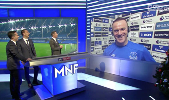 WATCH: Jamie Carragher Roasts Wayne Rooney About His Hair Live On MNF