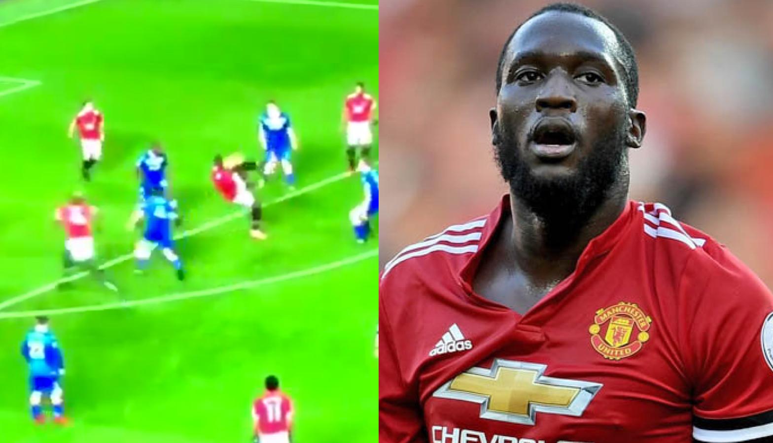 WATCH: Romelu Lukaku Smashes Football Into His Own Face
