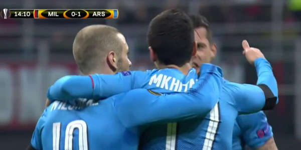 WATCH: Henrikh Mkhitaryan Smashes In His First Arsenal Goal Against AC Milan