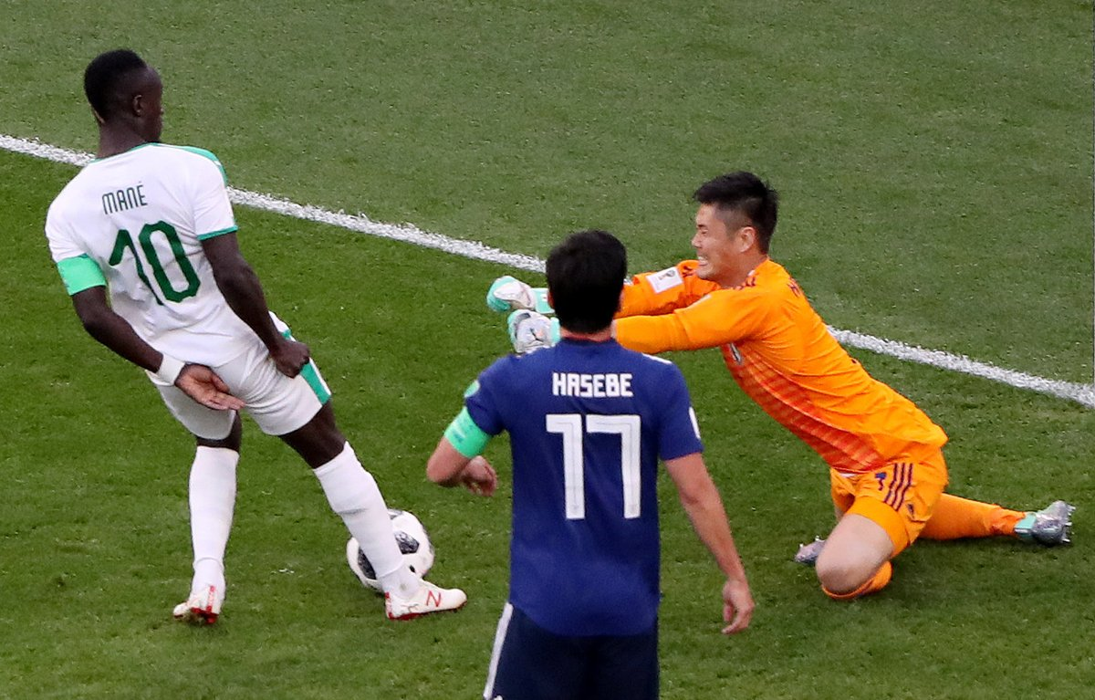 WATCH: Sadio Mané scores extremely lucky goal after Japanese goalkeeper blunder