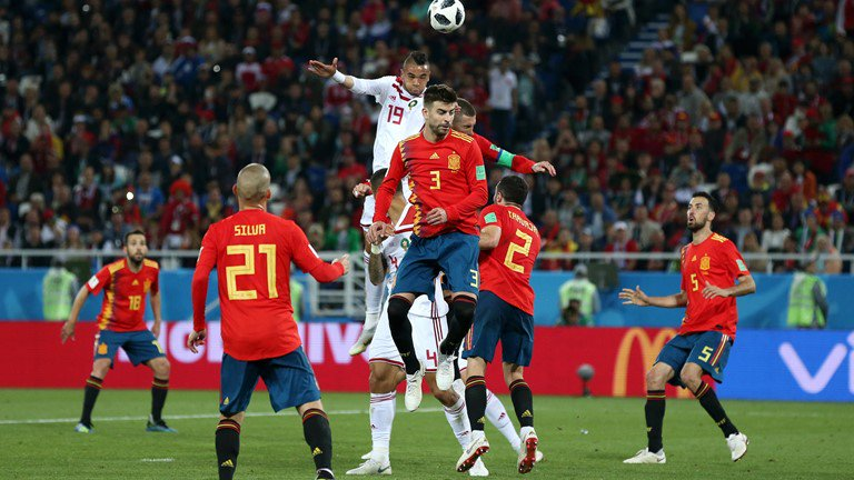 WATCH: En Nesyri scores bullet header to stun Spain and give Morocco unlikely lead
