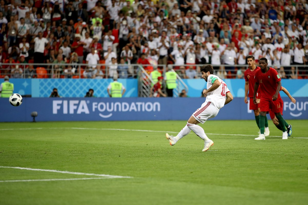 WATCH: Iran's penalty against Portugal was more top bins than both of Harry Kane's