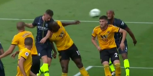 WATCH: Aymeric Laporte scores his first goal for Man City with thunderous header
