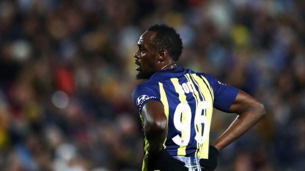 WATCH: Usain Bolt's first touch as a professional footballer was one to forget