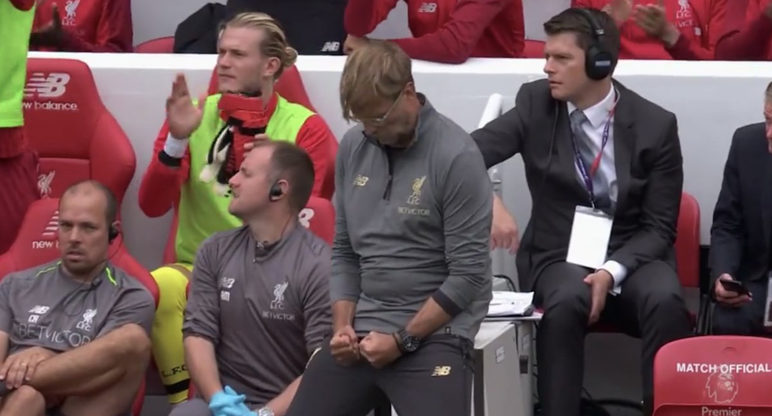 WATCH: Klopp Has Just won The Prize For The Most Questionable Celebration By A Manager