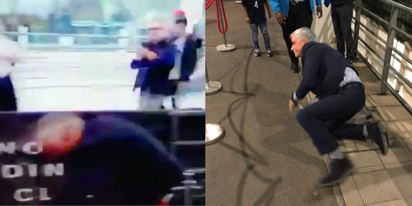 WATCH: Video footage of José Mourinho's Wembley wobble has surfaced