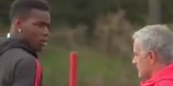 WATCH: José Mourinho completely blanks Paul Pogba at Man United training
