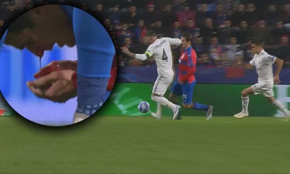 VIDEO: Sergio Ramos deliberately broke the nose of an opponent last night