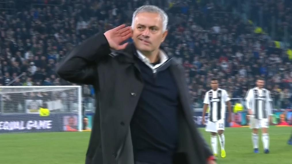 WATCH: Mourinho Taunts Juventus Fans Before Starting Row With Juventus Players, Peak Mourinho!