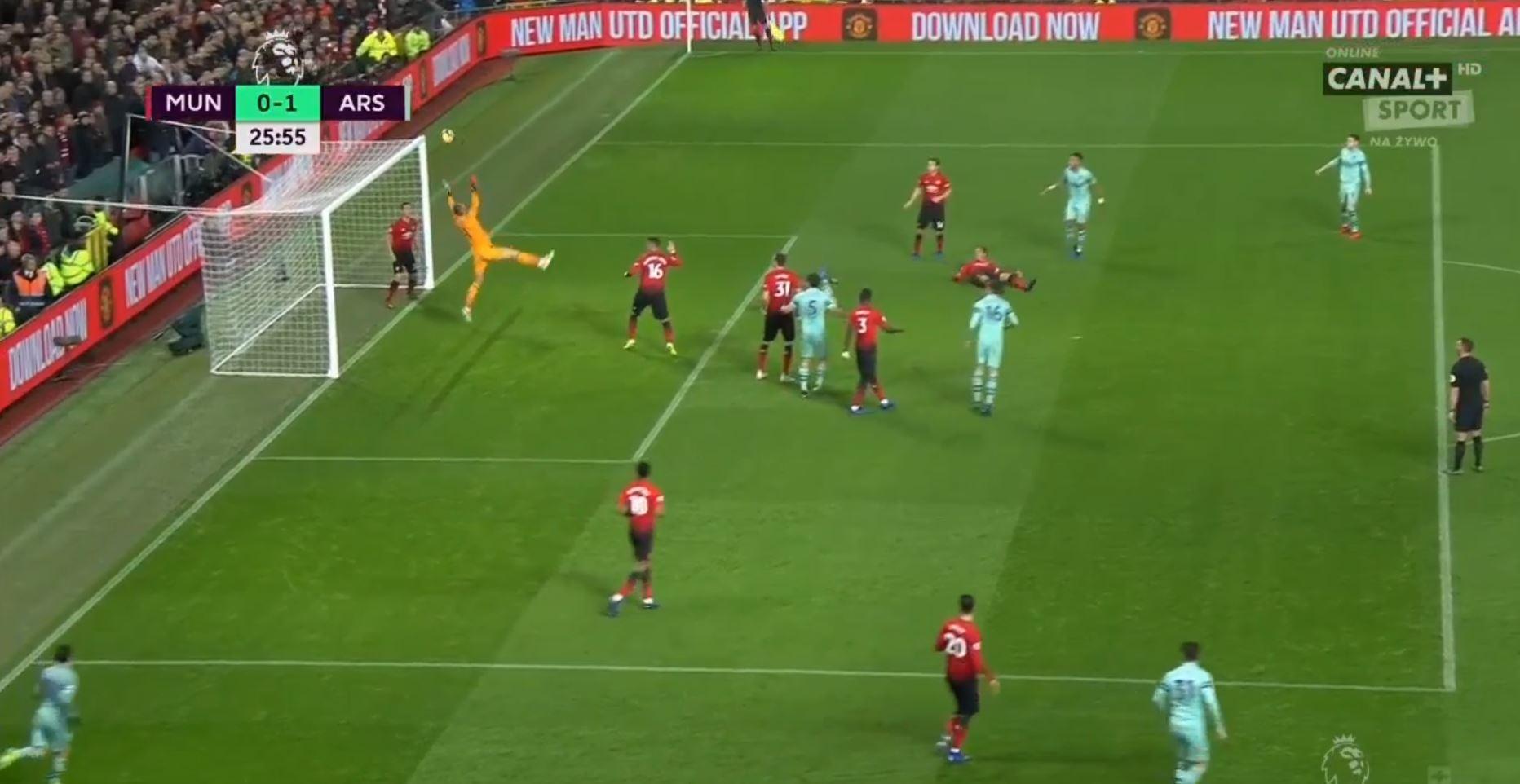 WATCH: De Gea Spills The Ball Over The Line For Arsenal Goal!