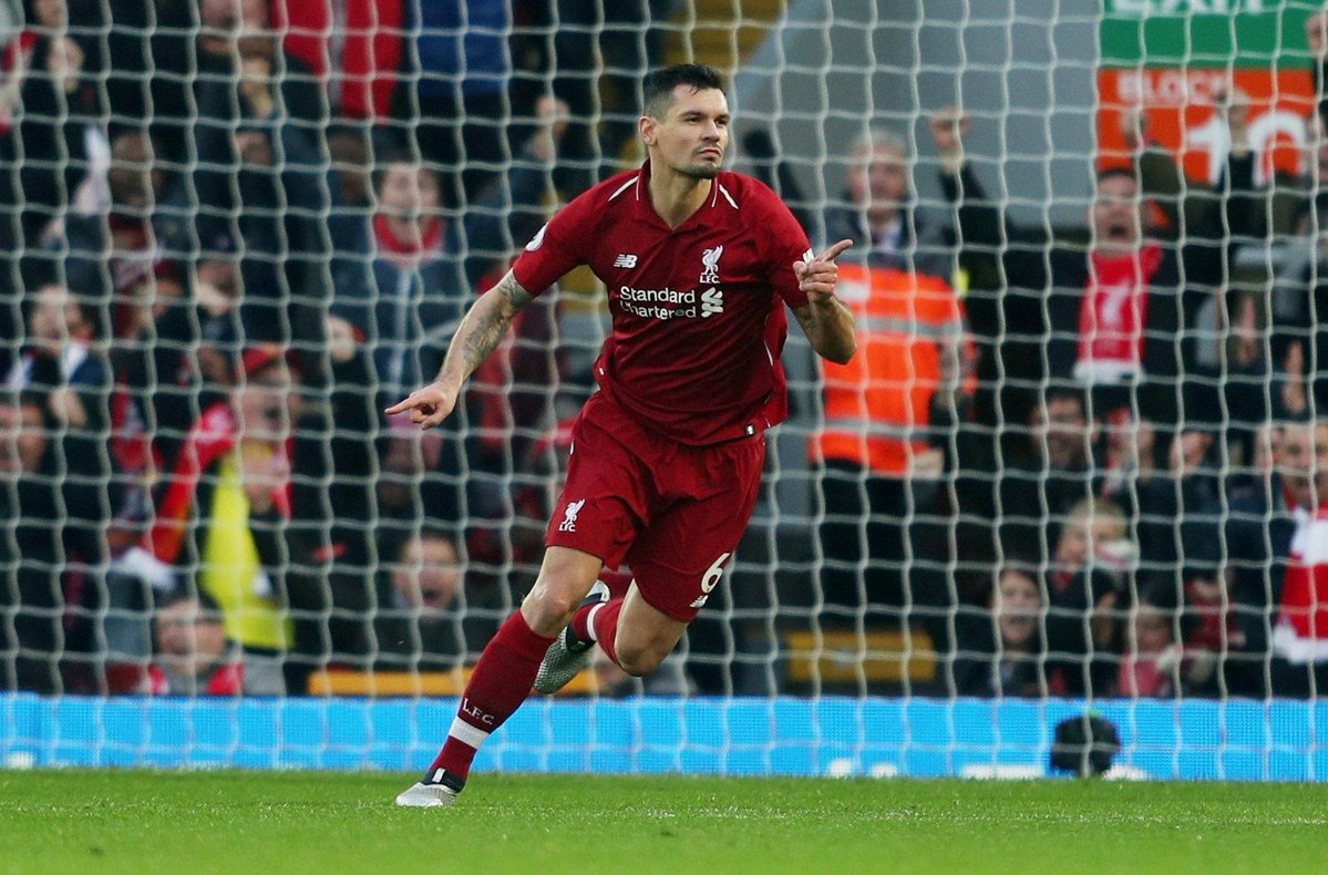 WATCH: Dejan Lovren smashes beautifully struck half-volley into the roof of Newcastle's net