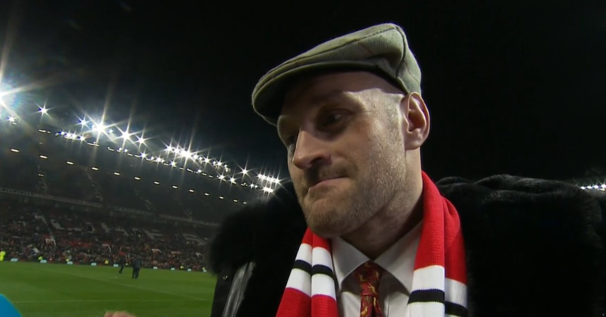 "WATCH: Tyson Fury Interviewed At Half-Time: ""I Was Robbed Blind In America"" Wants Rematch At Old Trafford"