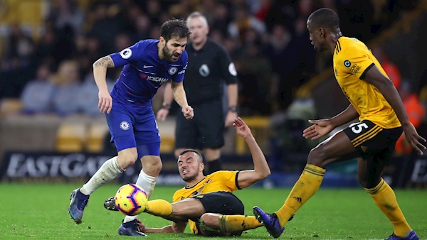 Chelsea lose further ground in title race after being hunted down by Wolves