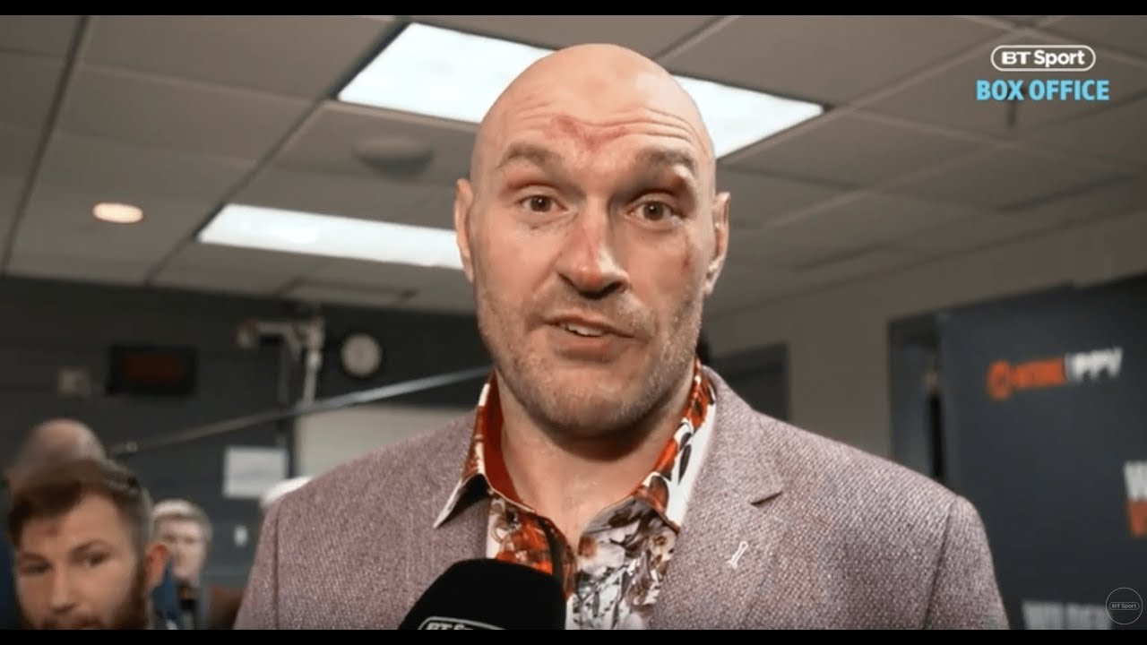 WATCH: Tyson Fury Reacts To The Result In First Interview After The Fight