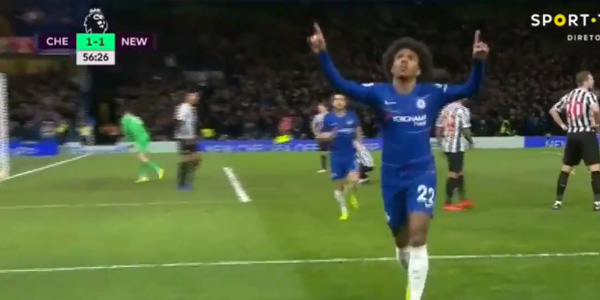 WATCH: Willian turns on Brazilian flair and scores wonderful goal against Newcastle