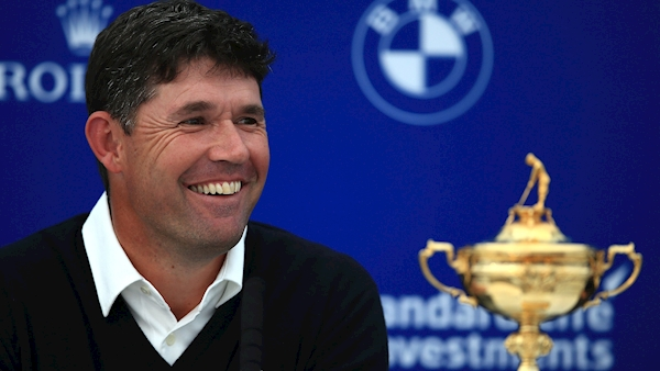 Padraig Harrington expected to be named Europe's Ryder Cup captain