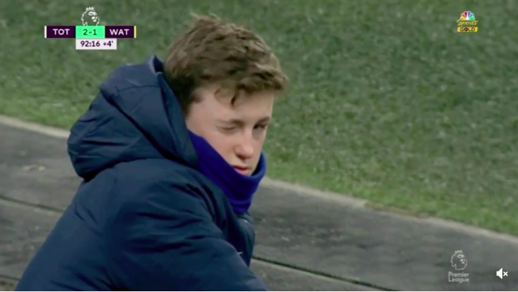 VIDEO: Timewasting Spurs ball boy vs. Watford – Celine Dion