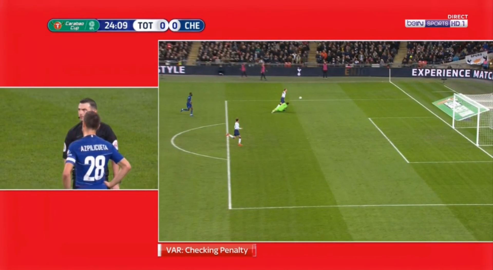 WATCH: VAR Rules Harry Kane Onside And Gives Tottenham A Penalty