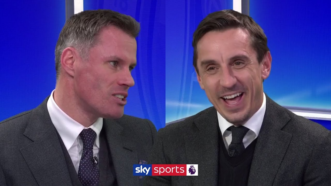 Who do Neville and Carragher think are favourites to win the Premier League – Liverpool or Man City?