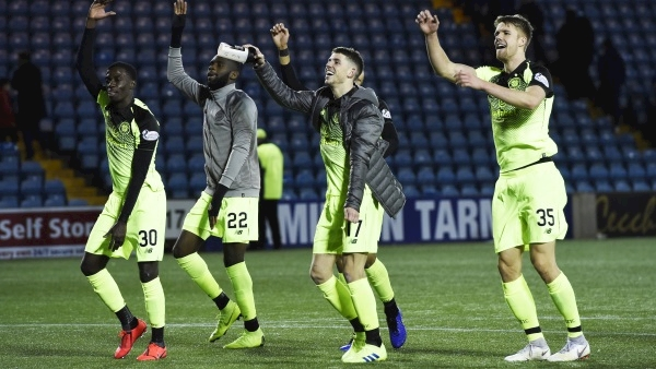Late Brown strike sees Celtic go eight points clear at the top of the table