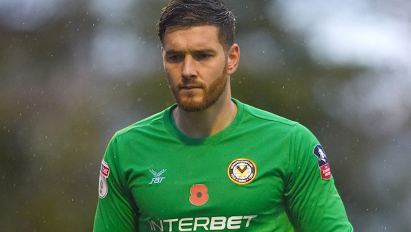 Newport County goalkeeper makes sharp exit after FA Cup win to attend birth of twins
