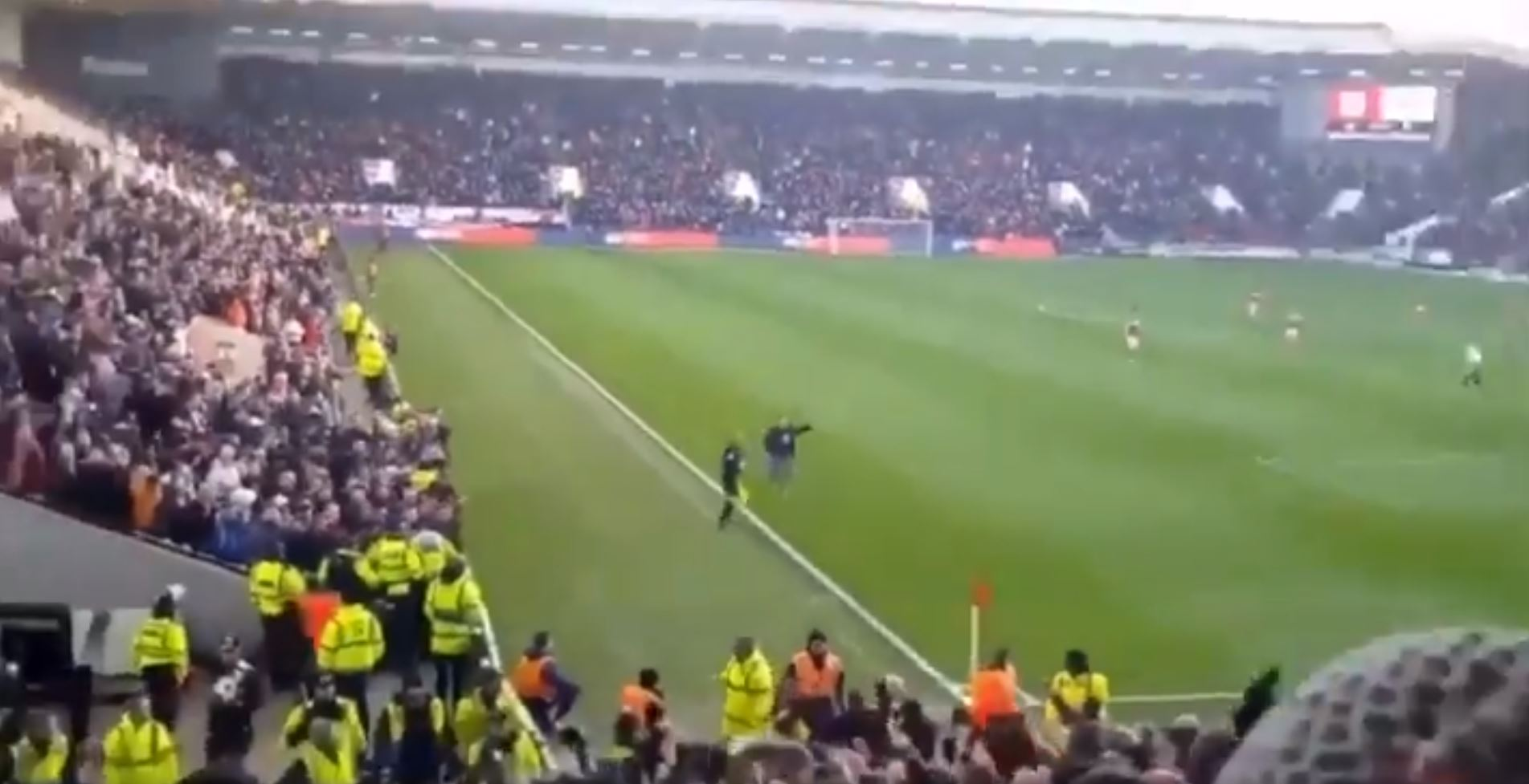 WATCH: Bristol City Fan Runs Length Of The Pitch To Celebrate Goal In Front Of Swansea Fans As It's Ruled Offside