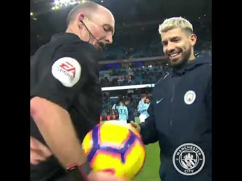 WATCH: Mike Dean Hides The Ball for Man of the Match Sergio Aguero 😂